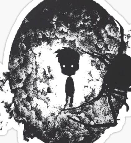 Boy in the shadow Sticker