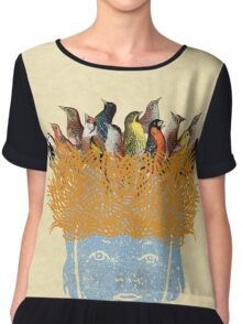 Bird nest head Women's Chiffon Top