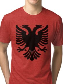 Albanian Eagle / Flag Tri-blend T-Shirt