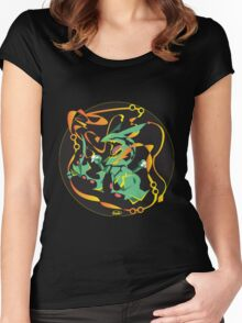Delta Dragon Circle Women's Fitted Scoop T-Shirt