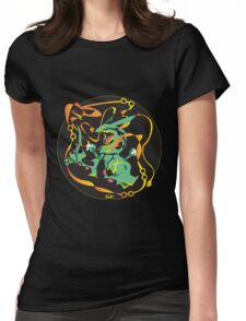 Delta Dragon Circle Womens Fitted T-Shirt