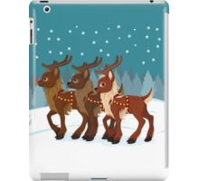 Reindeer in the Snow iPad Case/Skin