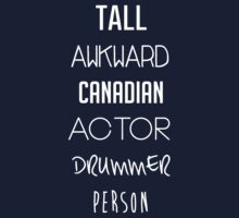 Navy Tall Awkward Canadian Actor Drummer Person by Desiree Nasim