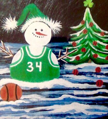 Celtic snowman fan Sticker