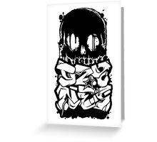 Skull Paint (Black) Greeting Card