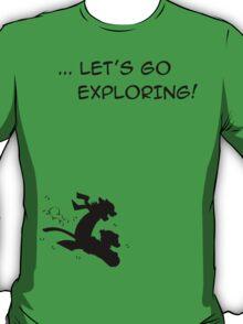 let's go exploring (black) T-Shirt