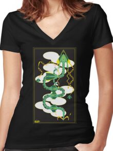 Dragon Delta Women's Fitted V-Neck T-Shirt