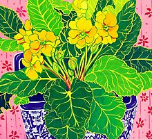 Pretty Primulas by marlene veronique holdsworth