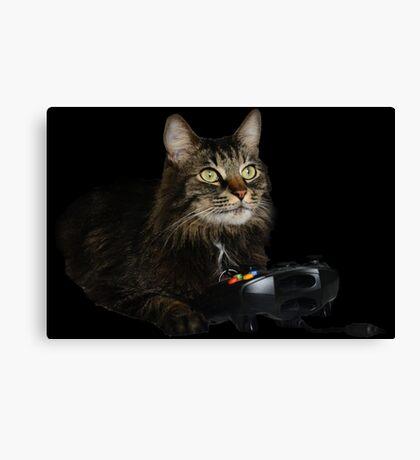 gamer cat Canvas Print