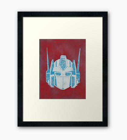Optimus Prime Framed Print