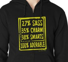 Adorable Sarcastic Princess Shirt and Hoodie Zipped Hoodie