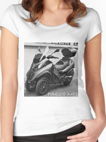 Piaggio MP3 Three-Wheeled Scooter Women's Fitted Scoop T-Shirt