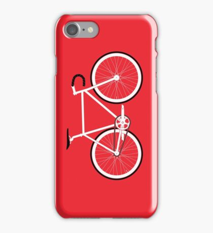Red Fixed Gear Road Bike iPhone Case/Skin