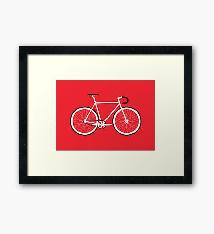 Red Fixed Gear Road Bike Framed Print