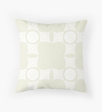 Simplistic Tan Pattern Throw Pillow