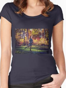 wonderland / magical fall Women's Fitted Scoop T-Shirt