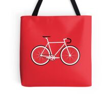 Red Fixed Gear Road Bike Tote Bag