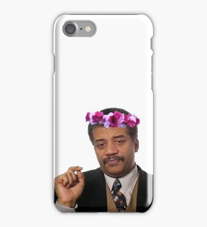 Flower Crown Neil Degrasse Tyson iPhone Case/Skin