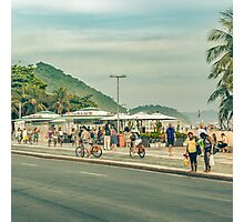 Copacabana Sidewalk Rio de Janeiro Brazil Photographic Print