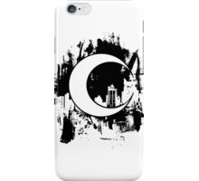 Moon Knight city-scape Black iPhone Case/Skin