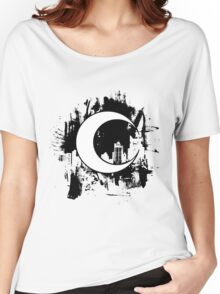 Moon Knight city-scape Black Women's Relaxed Fit T-Shirt