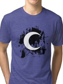 Moon Knight city-scape Black Tri-blend T-Shirt