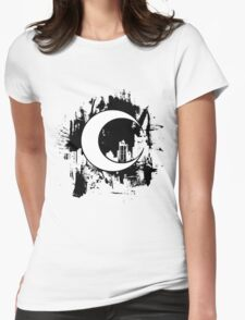 Moon Knight city-scape Black Womens Fitted T-Shirt
