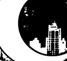 Moon Knight city-scape Black Sticker