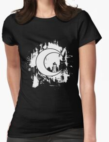 Moon Knight city-scape White Womens Fitted T-Shirt