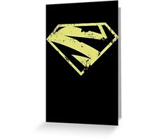 Supergirl New52 distressed pale gold Greeting Card