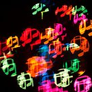 Abstract Bokeh shapes musical notes. by stuwdamdorp