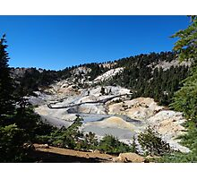 Overlooking a Geothermal Wonderland at Bumpass Hell Photographic Print