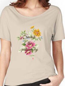 Smash the Patriarchy Floral Women's Relaxed Fit T-Shirt