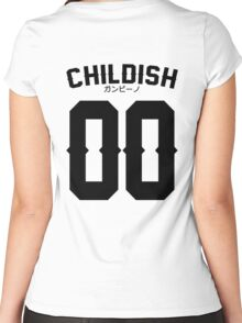 Childish Jersey v2: Black Women's Fitted Scoop T-Shirt