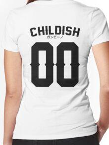 Childish Jersey v2: Black Women's Fitted V-Neck T-Shirt