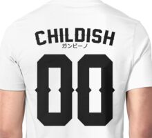 Childish Jersey v2: Black Unisex T-Shirt