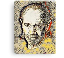 George Carlin Abstract Portrait Canvas Print