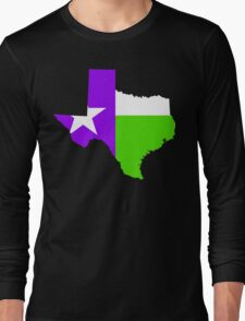 Texas Trill | Purple Green | Flagstate Long Sleeve T-Shirt