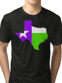 Texas Trill | Purple Green | Flagstate Tri-blend T-Shirt