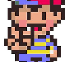 Ness - Earthbound by fuzzynegi