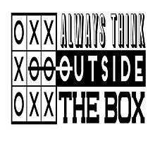 Always think outside the box Photographic Print