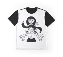 Monochrome Sisters Graphic T-Shirt