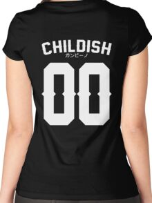 Childish Jersey v2: White Women's Fitted Scoop T-Shirt