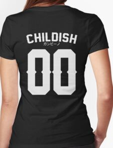 Childish Jersey v2: White Womens Fitted T-Shirt