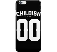 Childish Jersey v2: White iPhone Case/Skin