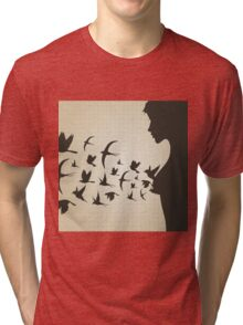 Bird from a breast Tri-blend T-Shirt