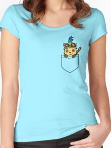 Is that a Teemo in your pocket? Women's Fitted Scoop T-Shirt