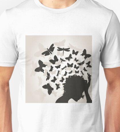Butterflies from a head3 Unisex T-Shirt