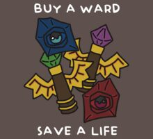 BUY A WARD SAVE A LIFE - WHITE TEXT/DARK SHIRTS by baconpiece