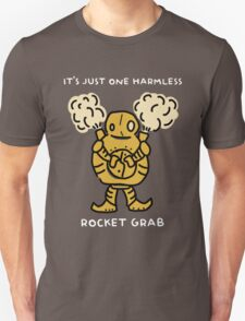 "Blitzcrank - ""IT'S JUST ONE HARMLESS ROCKET GRAB"" - WHITE TEXT/DARK SHIRTS T-Shirt"